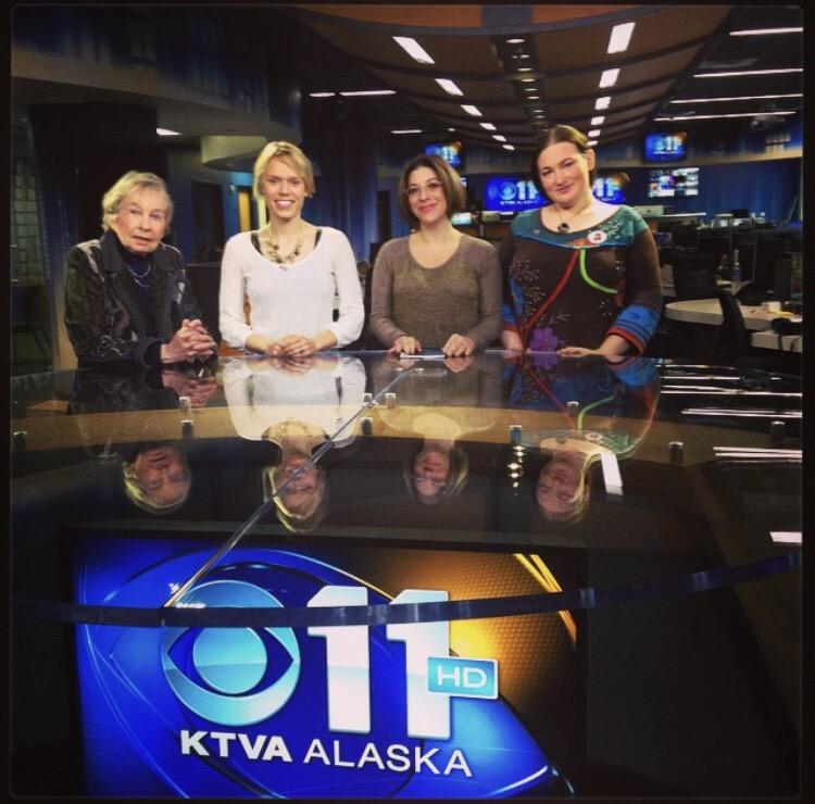 Lael Morgan, KTVA, M Dante and Terra Burns 2014