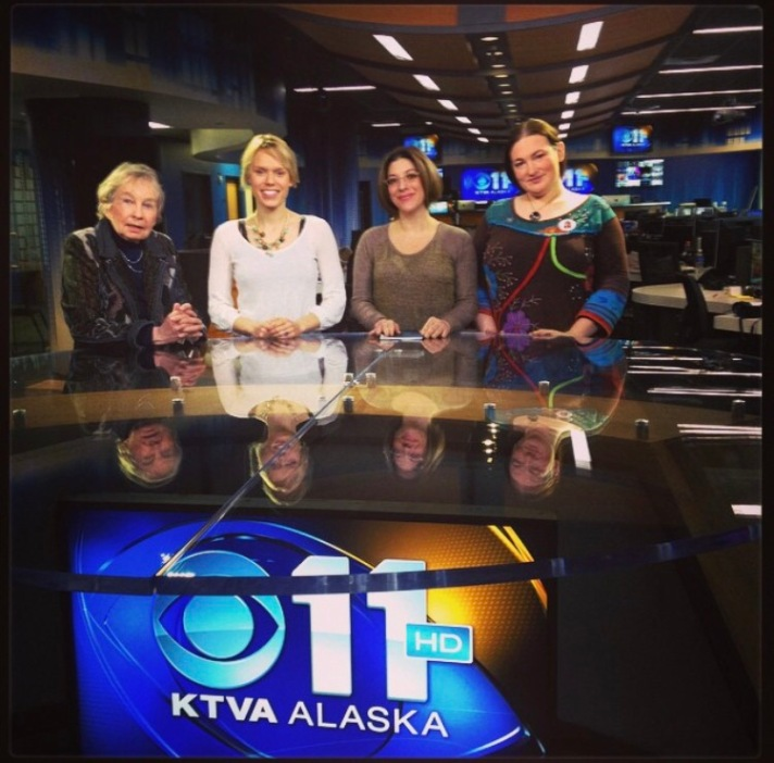 Lael Morgan, KTVA, M Dante and Terra Burns 2014